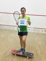 Wee Wern doing her bit supporting World Squash Day.