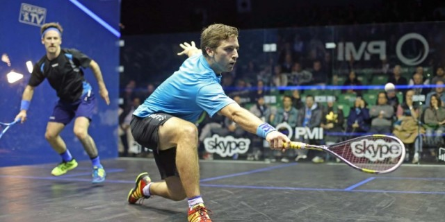 Mathieu Castagnet in action against Peter Creed