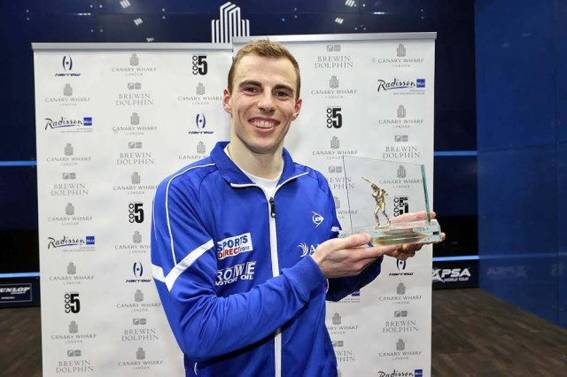 The 2015 champion Nick Matthew wins his fifth title