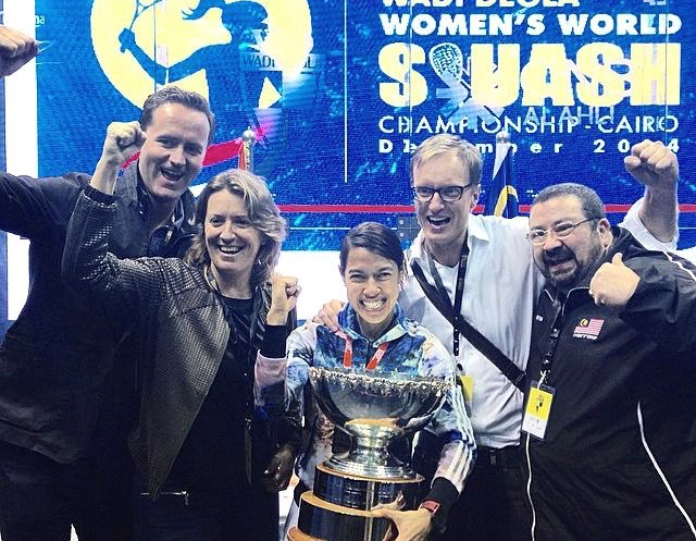 Nicol David wins her eighth world title in 2014