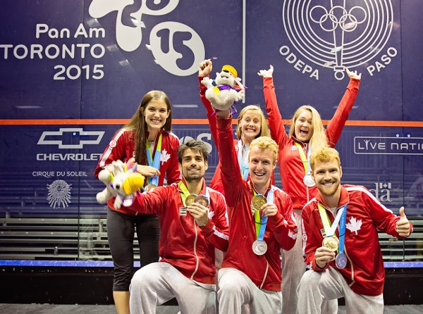 Team Canada pictured at the Pan-Am Games