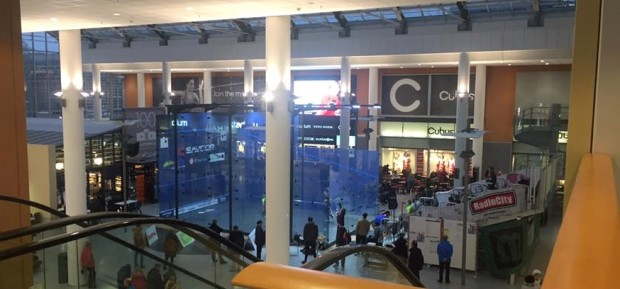 The glass court in the Stella shopping mall
