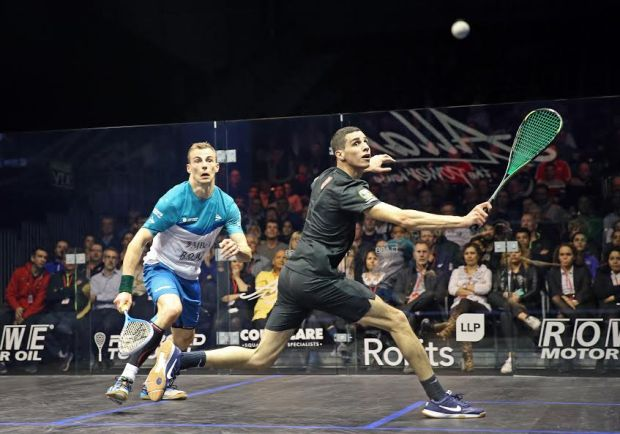 Ali Farag battles past Nick Matthew