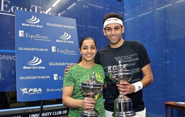 Chicago champions Mohamed Elshorbagy and Raneem El Welily