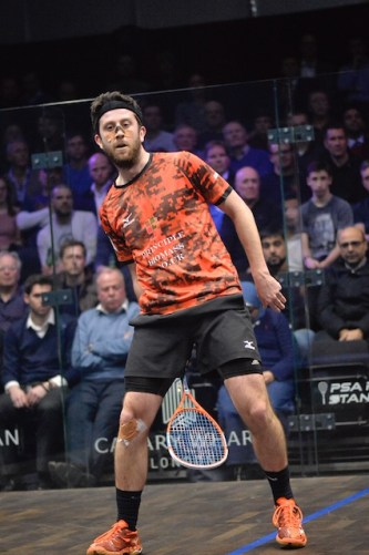 Daryl Selby plays a winner from between his legs