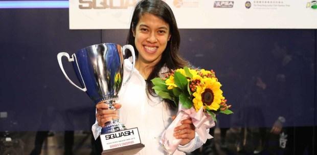 Nicol David celebrates her 10th triumph in Hong Kong