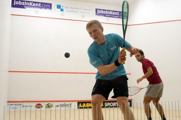 Joel Makin in action against Youssef Soliman