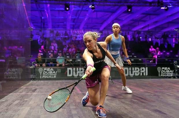 Laura Massaro battles past Nicol David in Dubai