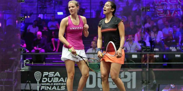 Laura Massaro wins against Nouran Gohar