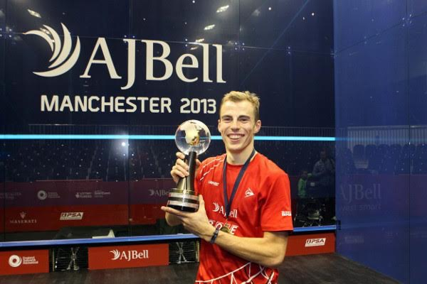 Nick Matthew wins the world title in Manchester in 2013