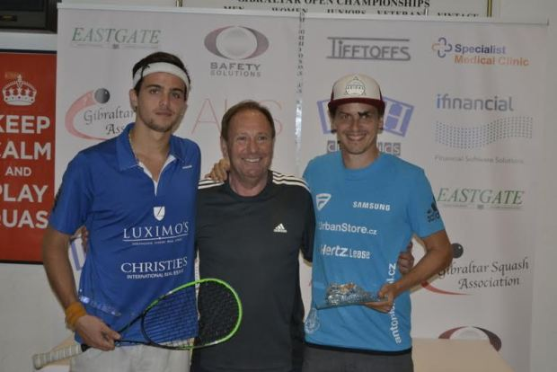 Jan Koukal (right) and Claudio Pinto after the final