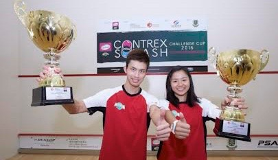 Contrex Challenge Cup winners Chi Him Wong (left) and Andrea Lee