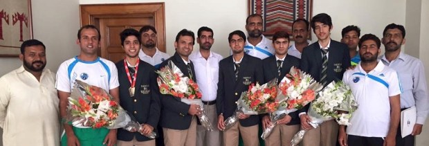 "Pakistan hold a reception for the ""winning"" juniors"