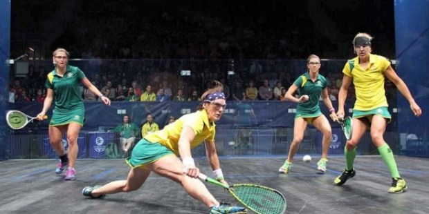 Rachael Grinham in action in the Commonwealth Games