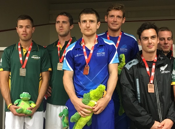 Alan Clyne and Greg Lobban take centre stage with their gold medals