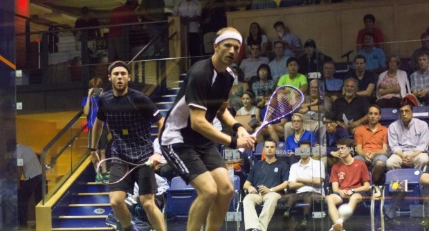 Steve Coppinger and Ryan Cuskelly in action in last year's final