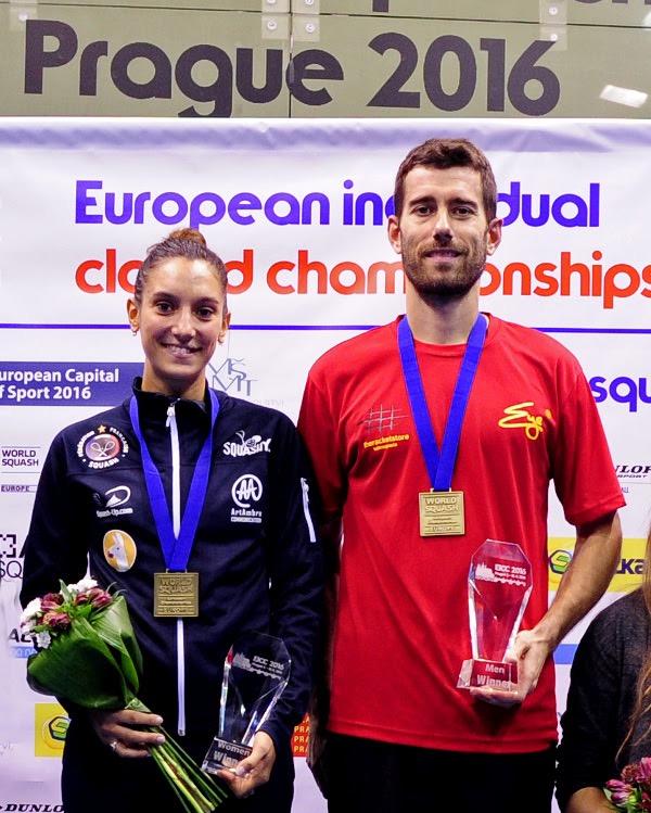 European champions Camille Serme and Borja Golan