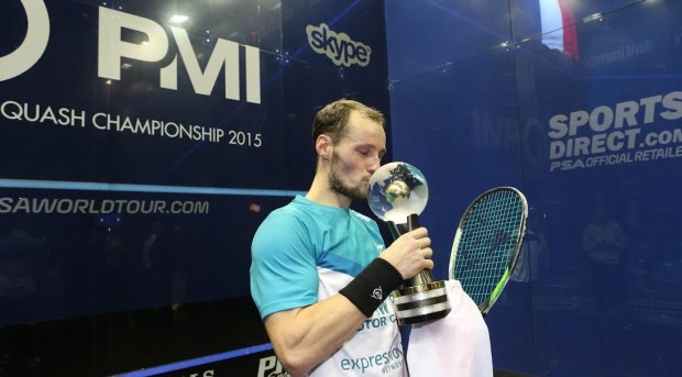 Reigning world champion Gregory Gaultier