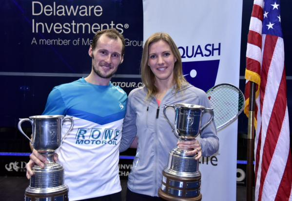 The 2015 US Open champions Gregory Gaultier and Laura Massaro