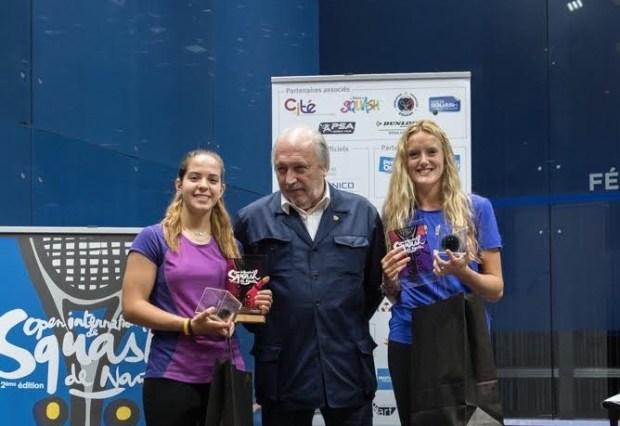 Nantes winner Hana Ramadan (left) with runner-up Rachael Chadwick (right).