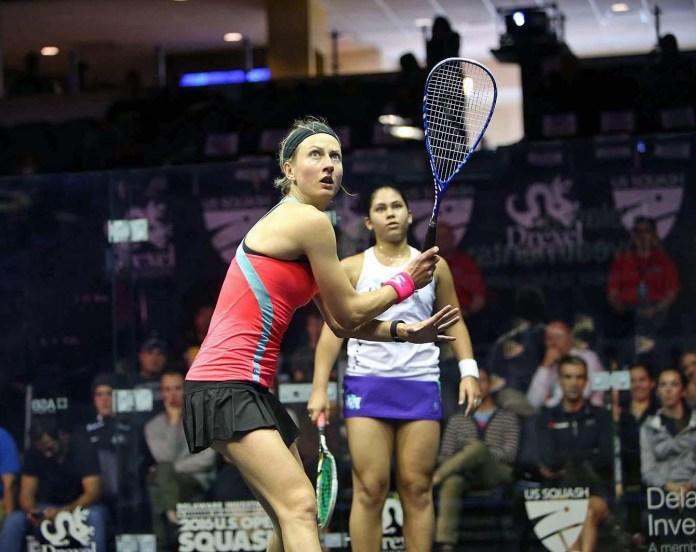 Alison Waters hangs in to win in five