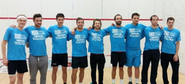 The Evreux, Mulhouse and Aix teams all support World Squash Day