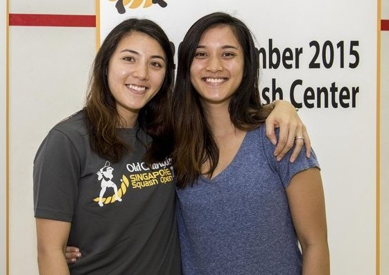 Rachel Arnold (right) will join elder sister Delia in the Malaysian team