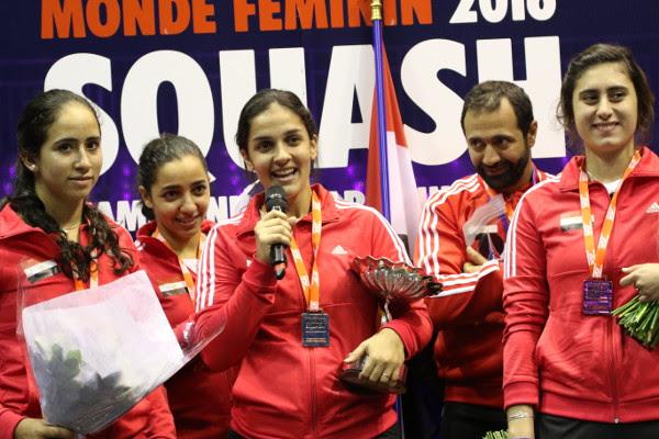World champions Egypt celebrate