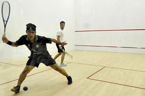 Adil Maqbool in action in the final