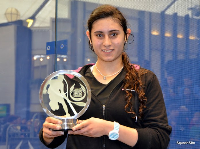 Nour El Sherbini, the women's top seed in Poland