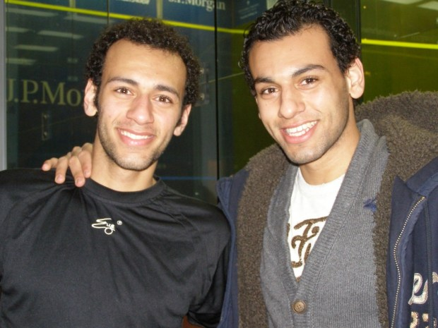 Brothers Mohamed (right) and Marwan Elshorbagy