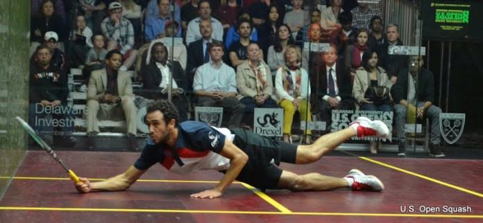 Ramy Ashour in action at last year's US Open
