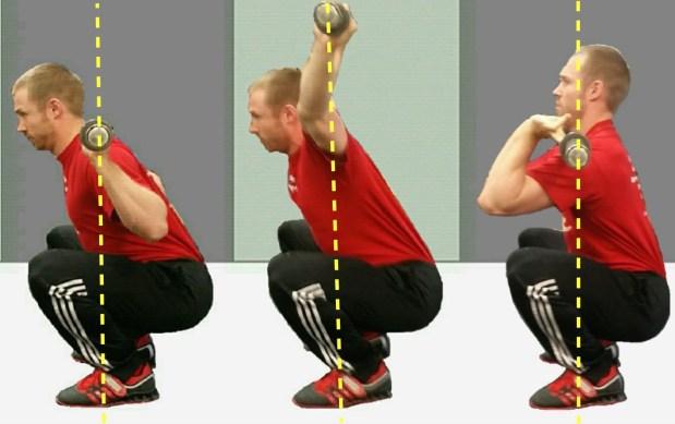 Squat Balance Shot