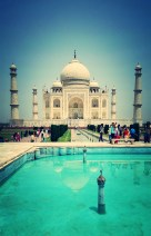 Taken with my phone - Samsung Galaxy S5. The Taj was an obvious highlight from India.