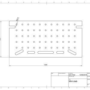 CNC Machined Mini MFT slab – Alternative to Festool MFT/3