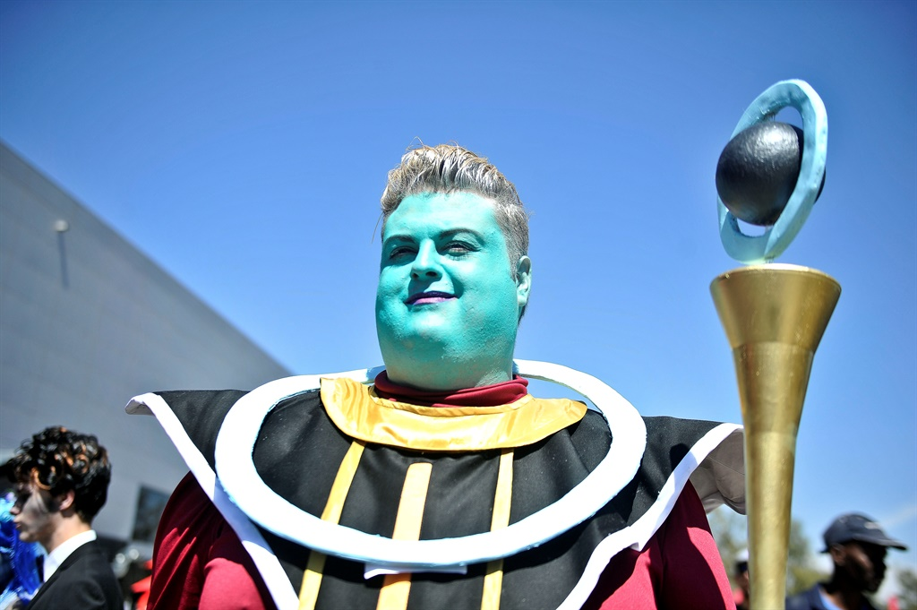 Whis from Dragon Ball Z cosplay at Comic con Africa