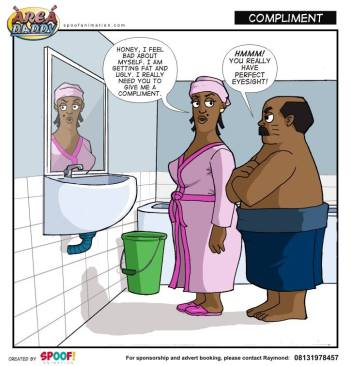 Col. Koko and wife in Area Daddy comic strip