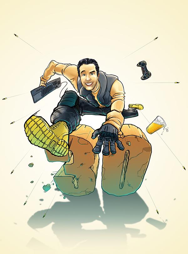 Jumping 30, artwork by Tinodiwa Zambe Makoni