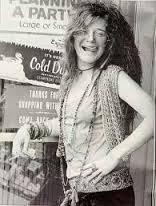 Janis Joplin in playful mood.