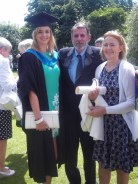 Siobhan, Dad and Mum.