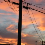 sunrise & powerlines