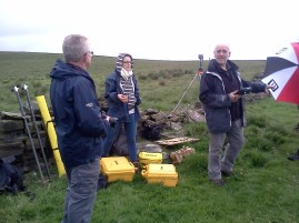 Talking about GPS survey methods with Dave and Cara