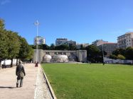 Beautiful Park and Fountain in Lisbon