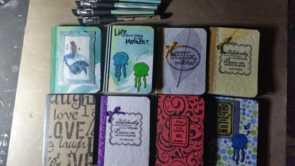 Mini DIY notebooks is another part of the creative journey process.