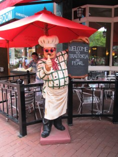 The chefs at Trattoria wear croshades.