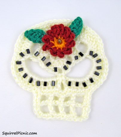 Embellished skull applique