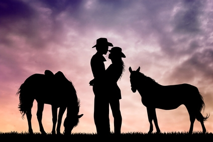 Image result for picture of riding into sunset