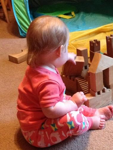 Baby; building blocks, castle