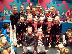 Joleen's Starz of the South - Land of the Free performers with their top production award