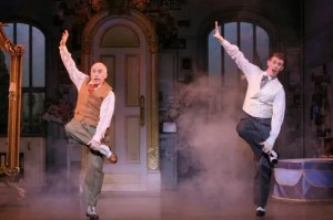 "(L to R) Richard Vida and Mark Ledbetter in ""The Drowsy Chaperone,"" a witty love letter to the madcap musicals of the 1920s with music and lyrics by Lisa Lambert and Greg Morrison and book by Bob Martin and Don McKellar. Directed and choreographed by Casey Nicholaw, ""The Drowsy Chaperone"" is presented in a limited engagement July 8 - 20, 2008 (opening on July 9), at the Center Theatre Group/Ahmanson Theatre (135 N. Grand Ave. in Los Angeles). For tickets and information, call (213) 628-2772 or go to www.CenterTheatreGroup.org. Photo by Joan Marcus Press contact: CTG Press (213) 972-7376"